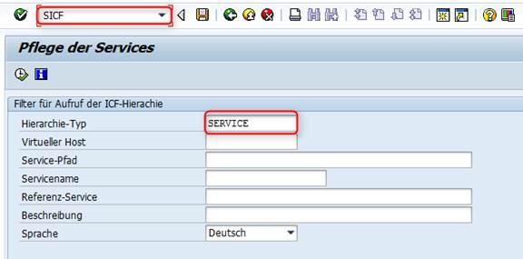 SAP Netweaver Business Client SICF Service