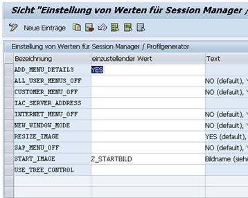 "Transaktion SM30_SSM_CUST Schalter  ""ADD_MENU_DETAILS"""