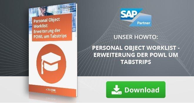 Personal Object Worklist - Erweiterung der POWL um Tabstrips