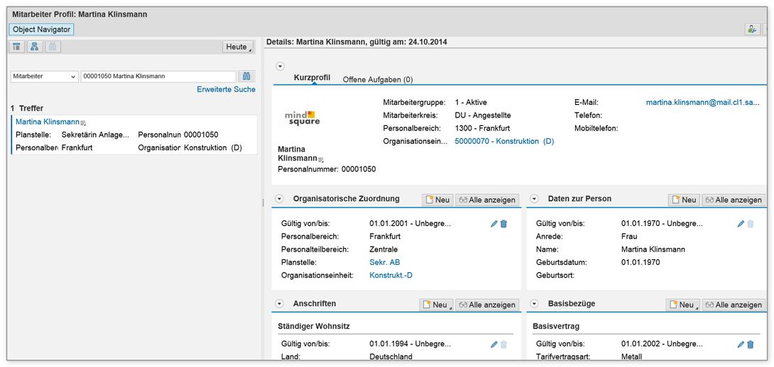 SAP Stammdatenverwaltung