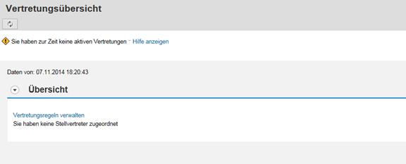 SAP Vertretungs-Service: Vertretungsübersicht