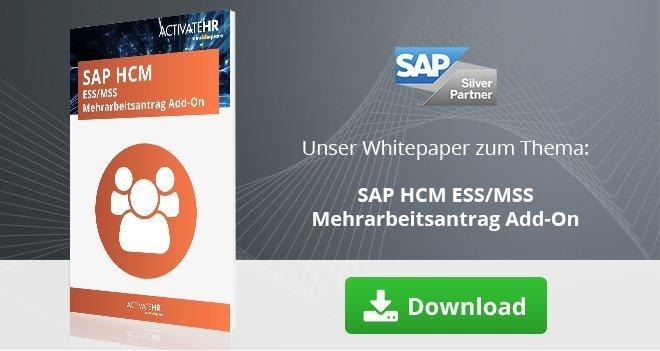 SAP HCM ESS MSS Mehrarbeitsantrag Add-On