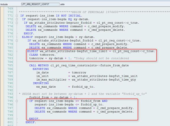 Anträge für morgen: Fehler im SAP-Standard-Quellcode