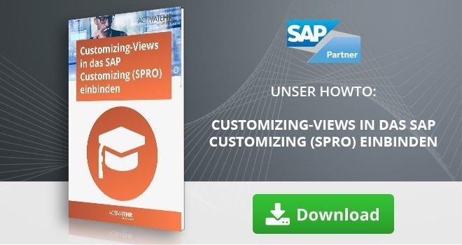 Customizing-Views in das SAP Customizing (SPRO) einbinden