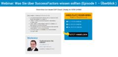 Webinar-Reihe: SuccessFactors (Episode 1 - Überblick).