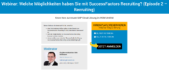 Webinar SuccessFactors Recruiting.