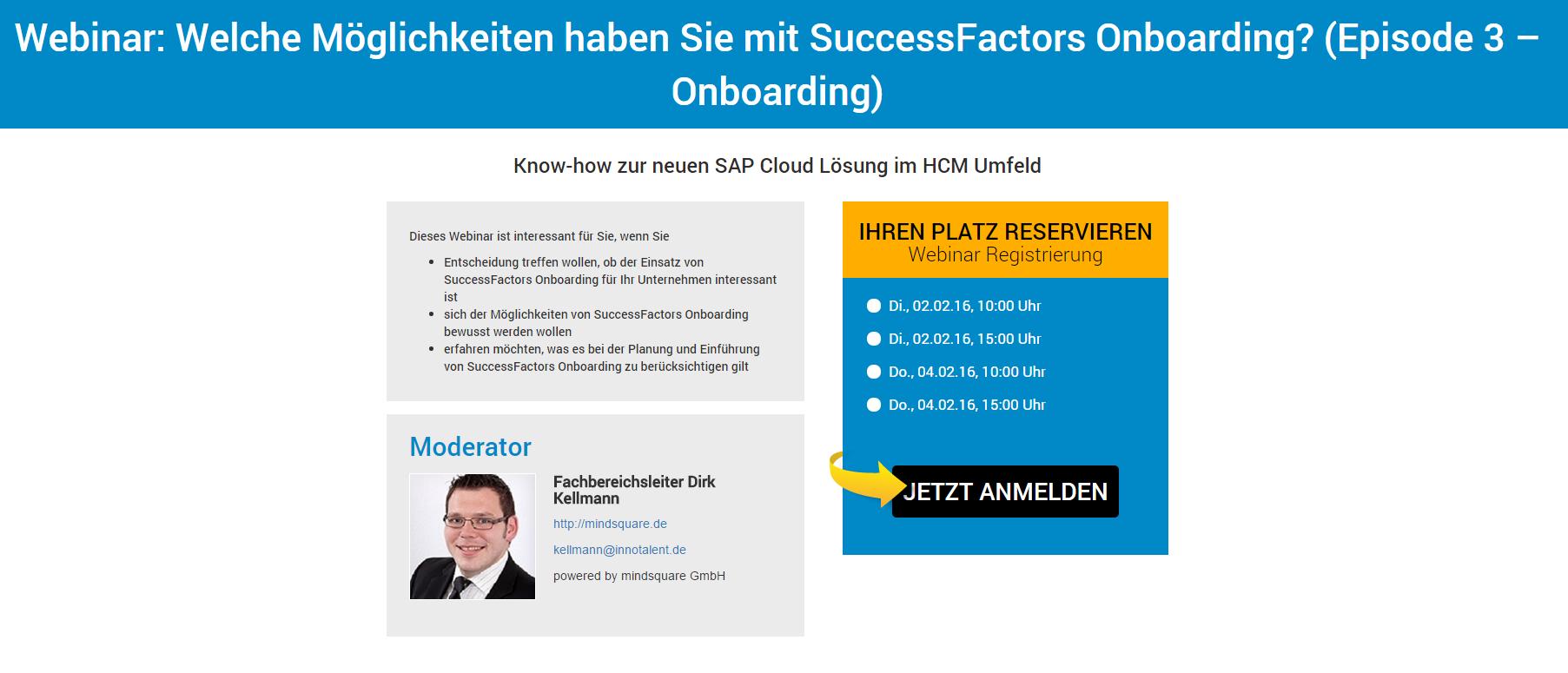 Webinar SuccessFactors Onboarding