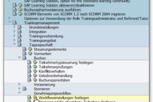 LSO Workflow Customizing in der SPRO