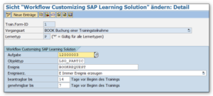 LSO Workflow Customizing in der SPRO 2