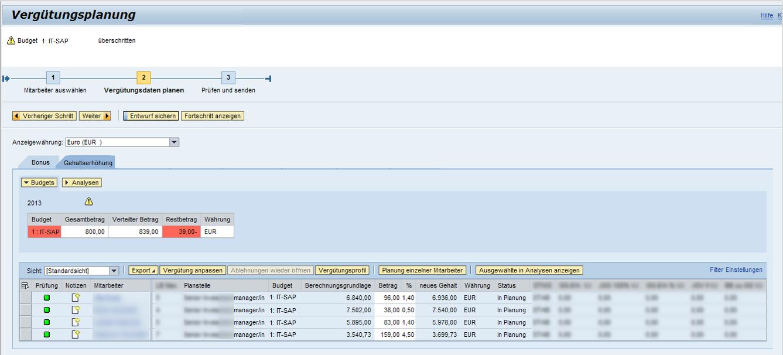 UnternehmensvergütungsmaangementScreenshot