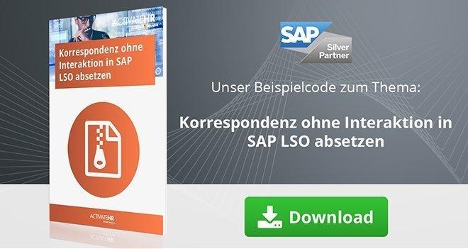Korrespondenz ohne Interaktion in SAP LSO absetzen