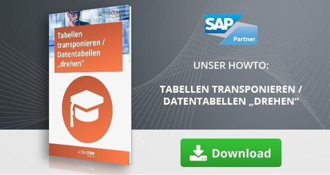 """Tabellen transponieren/Datentabellen """"drehen"""""""