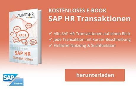 Überblick SAP HR Transaktionen