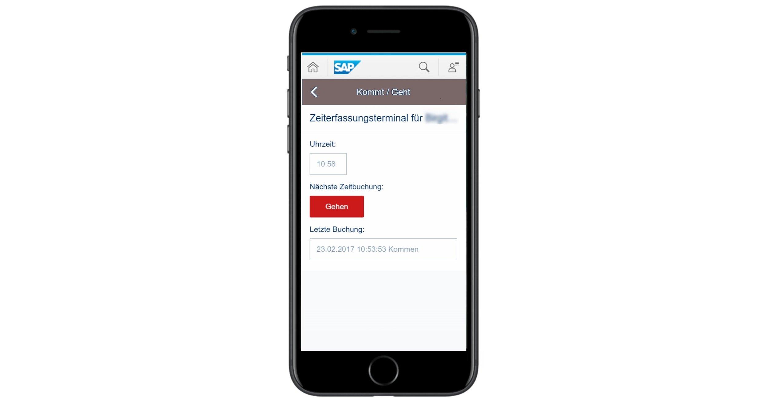Zeiterfassungsterminal als eigenständige App
