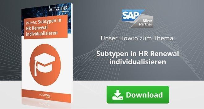 Subtypen in HR  Renewal individualisieren