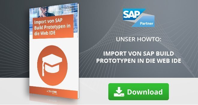 Import von SAP Build Prototypen in die Web IDE