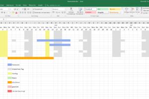 Excelexport Teamkalender
