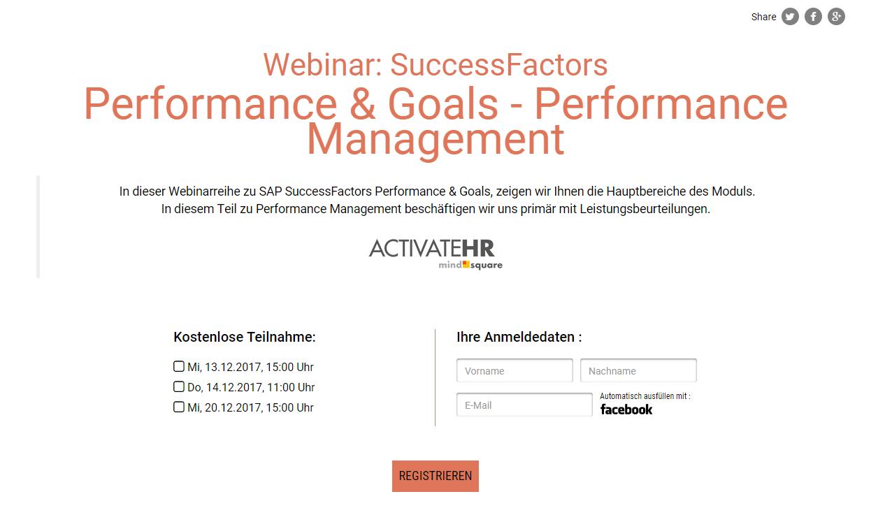 successfactors performance management