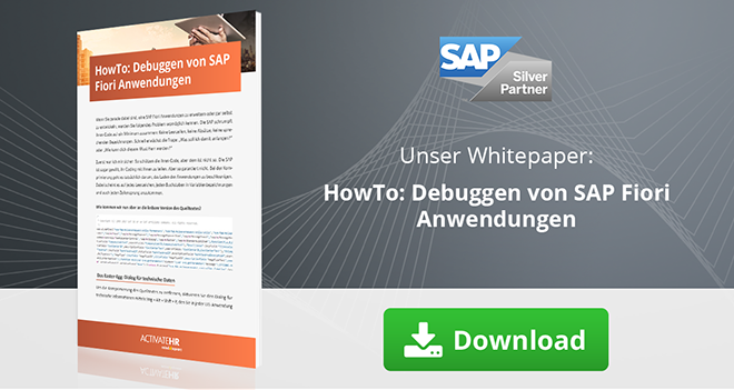 Expertiseseite_HowTo Debuggen von SAP Fiori Anwendungen