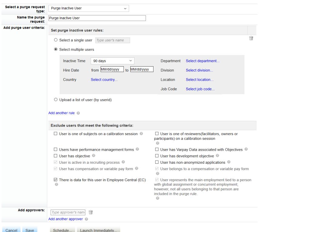 Benutzer aus SAP SuccessFactors löschen (Einblick in das Data Retention Management Tool)