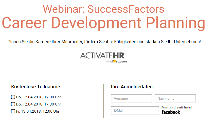 SuccessFactors Career Development Planning