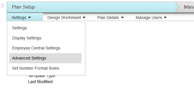 Advanced Settings in SuccessFactors Compensation
