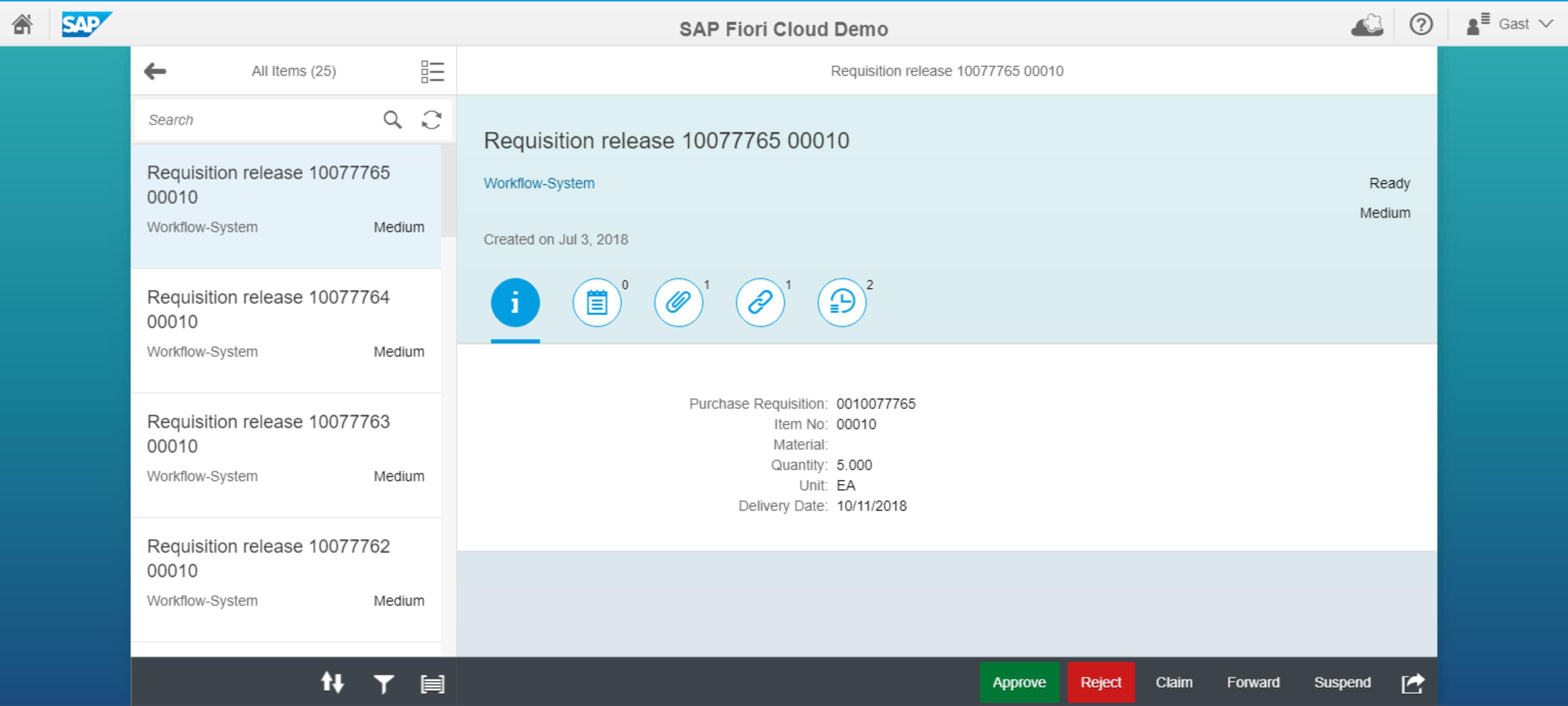 SAP Standard Inbox