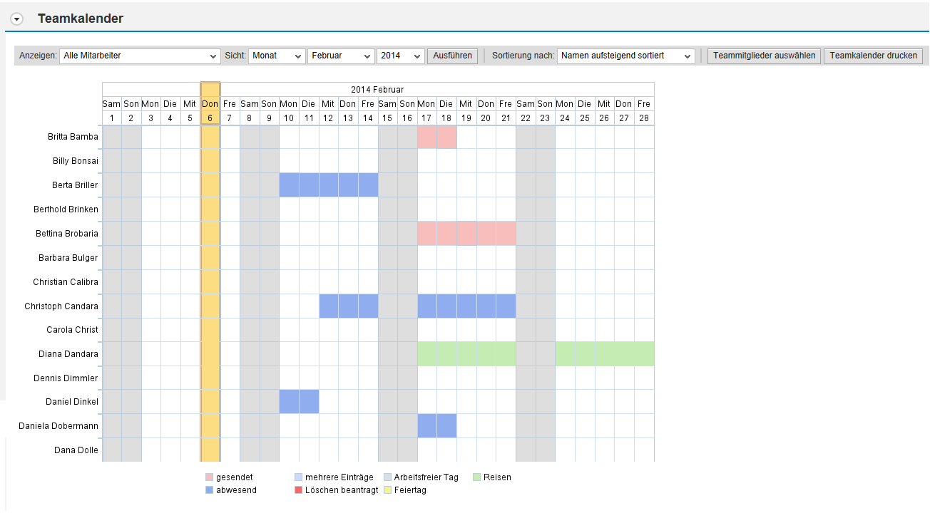 SAP Teamkalender Web Dynpro ABAP