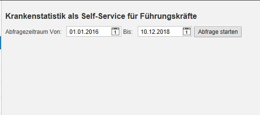 Krankenstatistik Self Service