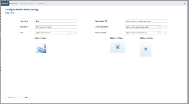 Android-Profile in der WebIDE anlegen