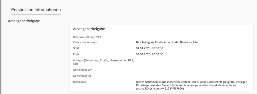 Kurzarbeit in SuccessFactors