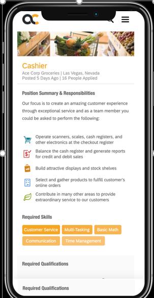 Bewerbermanagement auf dem Handy