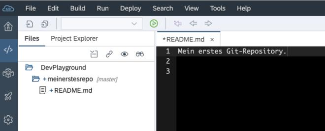 Git-Repository Datei hinzufügen