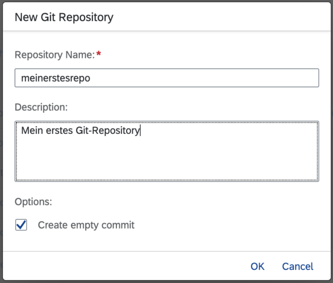 Git-Repository benennen