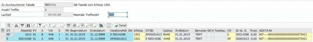 SAP HRP1001