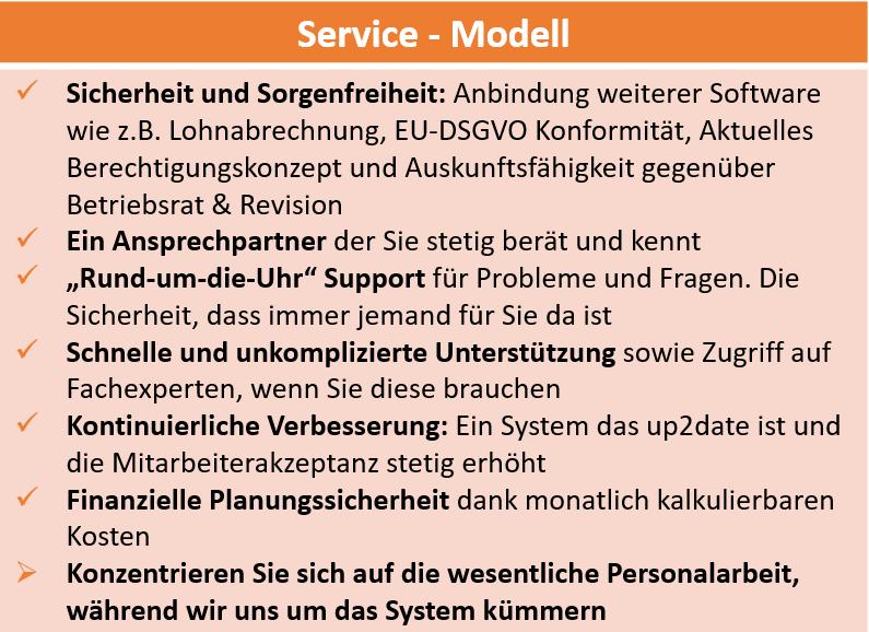 Ihre Mehrwerte des Service-Modells auf einen Blick