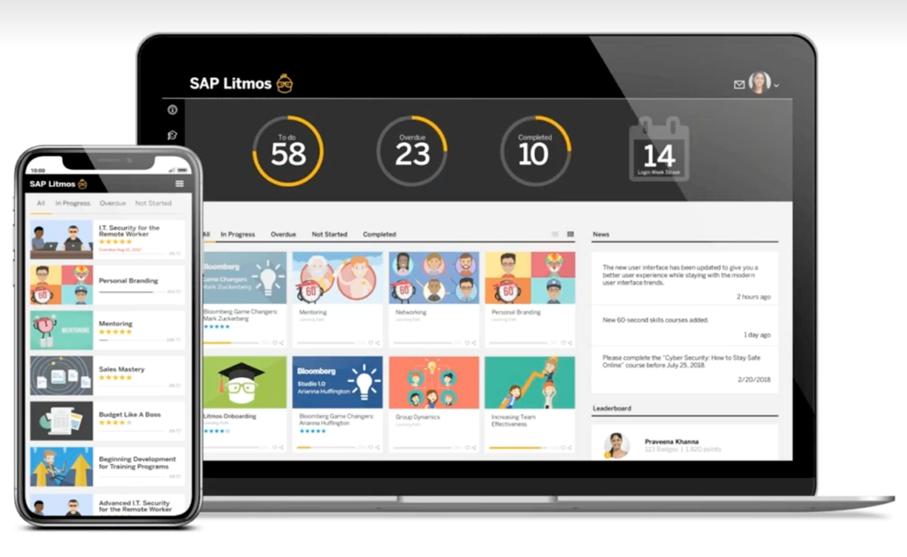 LITMOS Dashboard für Lernende